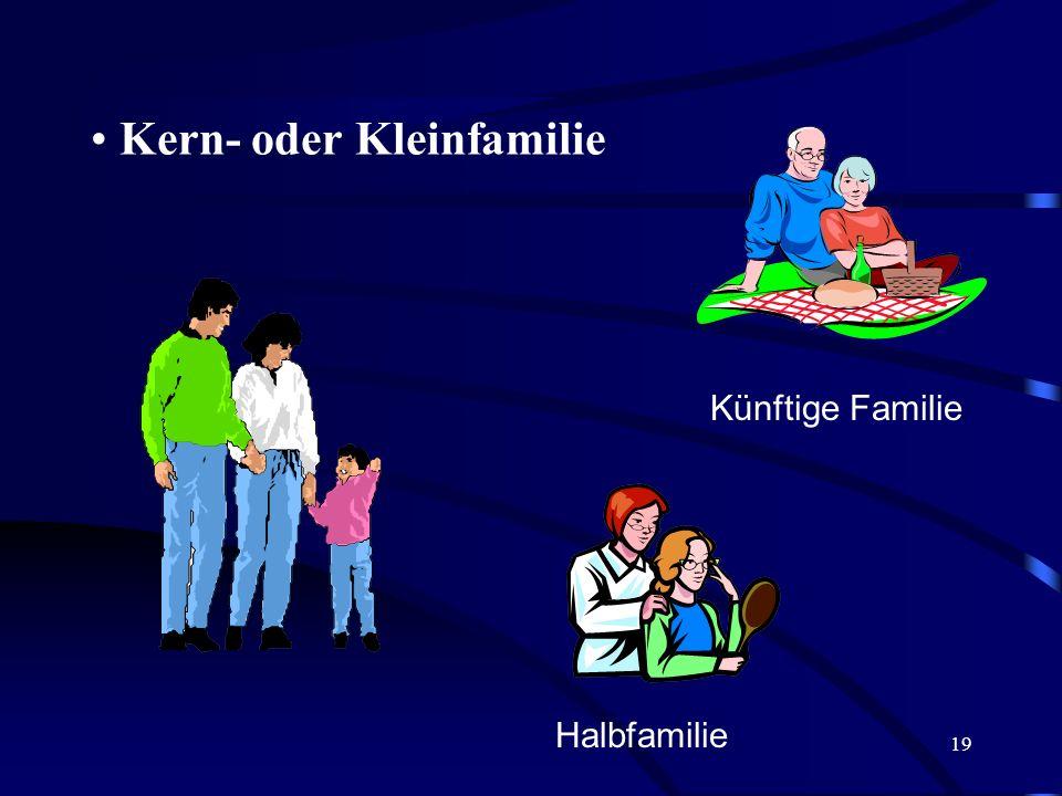 18 § 3 Grundbegriffe des Familienrechts I. Familie Großfamilie Im Hause des Königs Priamos lebten laut Homer: 50 Brüder und 12 Schwestern mit Ehegatte