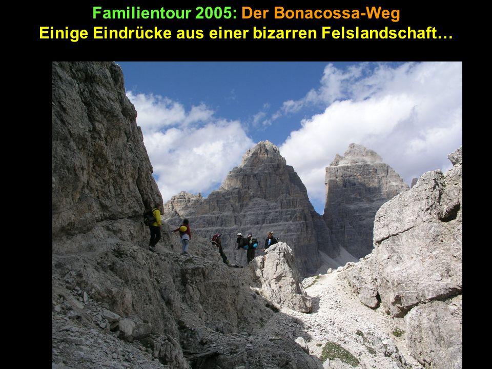 Familientour 2005: Die Überschreitung des Monte Piano Und wieder geht ein wunderschöner Tag zu Ende.