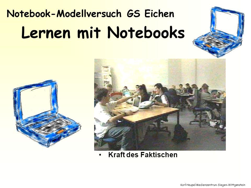 Karl Heupel Medienzentrum Siegen-Wittgenstein Lernen mit Notebooks Ortsunabhängige Nutzung nutzbar in allen Fächern Fächerverbindung persönliches Lern