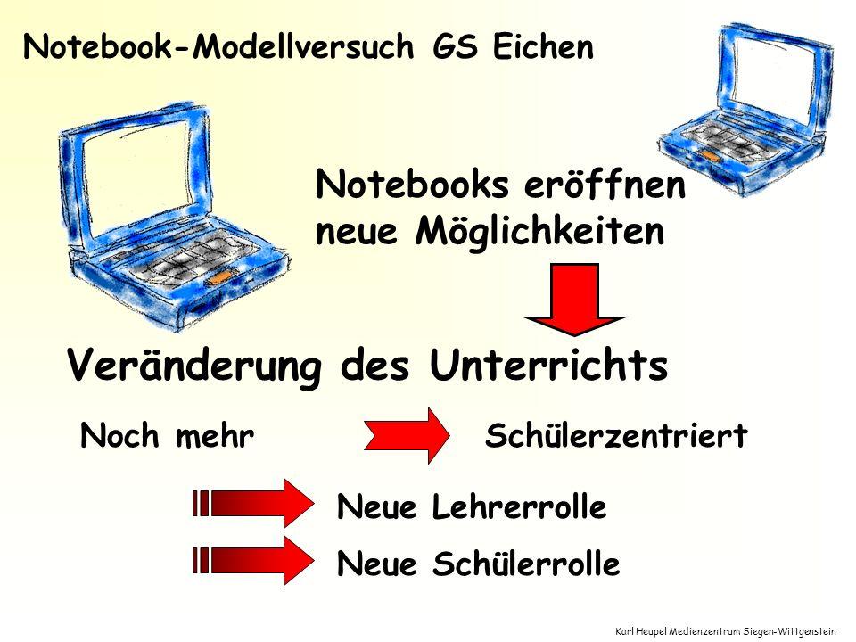 Karl Heupel Medienzentrum Siegen-Wittgenstein Neue Lehrerrolle Neue Schülerrolle Notebooks eröffnen neue Möglichkeiten Noch mehrSchülerzentriert Verän