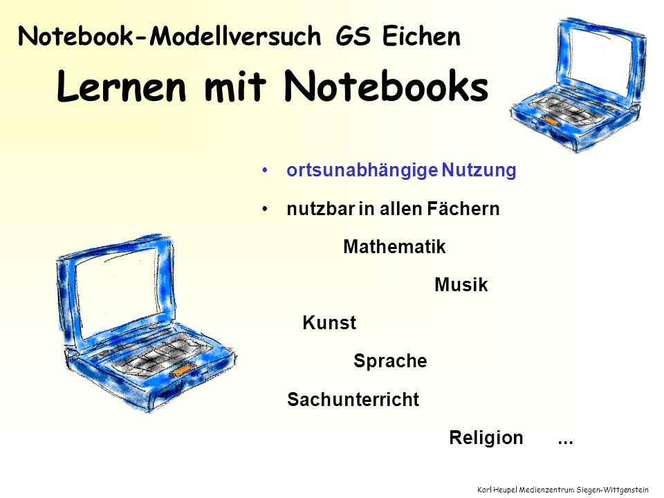 Karl Heupel Medienzentrum Siegen-Wittgenstein Lernen mit Notebooks ortsunabhängige Nutzung nutzbar in allen Fächern Mathematik Musik Kunst Sprache Sac
