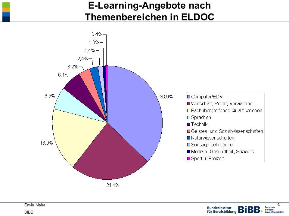 ® Erwin Maier BIBB E-Learning-Angebote nach Themenbereichen in ELDOC