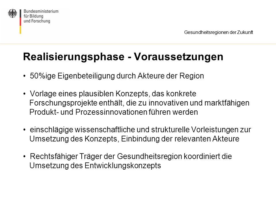 Weitere Infos Abgabetermin elektronisch (entscheidend): 15.April 2008 Abgabetermin postalisch (Unterschriften): 22.April 2008 http://www.gesundheitsforschung-bmbf.de/de/1845.php (Förderbekanntmachung, Leitfaden) https://www.pt-it.de/ptoutline/grdz/ (Internet-Portal) Kontakt: PT-DLR Gesundheitsforschung Tel: 0228 - 3821 210 Gesundheitsregionen der Zukunft