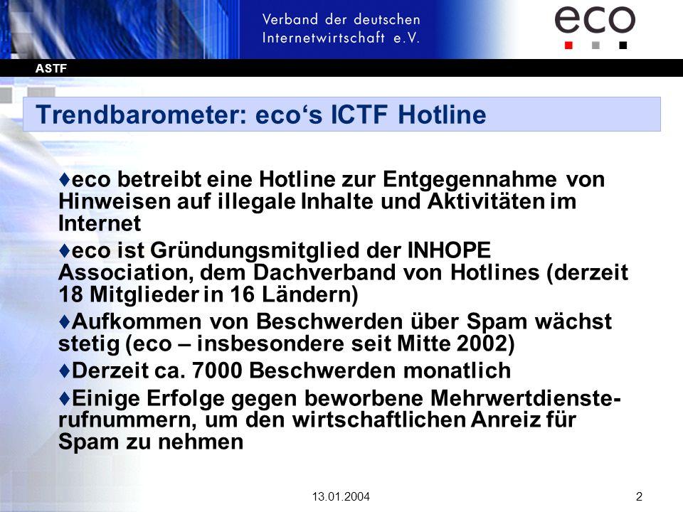 ASTF 13.01.200423 Rechtslage: UWG - Novellierung t Die Ausnahme: Qualifiziertes Opt-In-Prinzip - § 7 Abs.