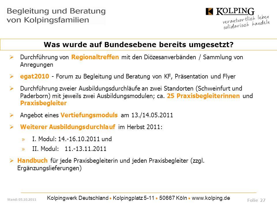 Kolpingwerk Deutschland Kolpingplatz 5-11 50667 Köln www.kolping.de Stand: 05.10.2011 Durchführung von Regionaltreffen mit den Diözesanverbänden / Sam