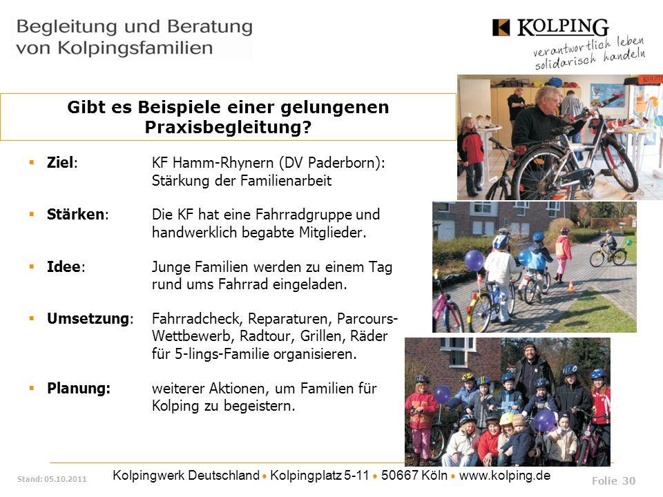 Kolpingwerk Deutschland Kolpingplatz 5-11 50667 Köln www.kolping.de Stand: 05.10.2011 Ziel: KF Hamm-Rhynern (DV Paderborn): Stärkung der Familienarbei