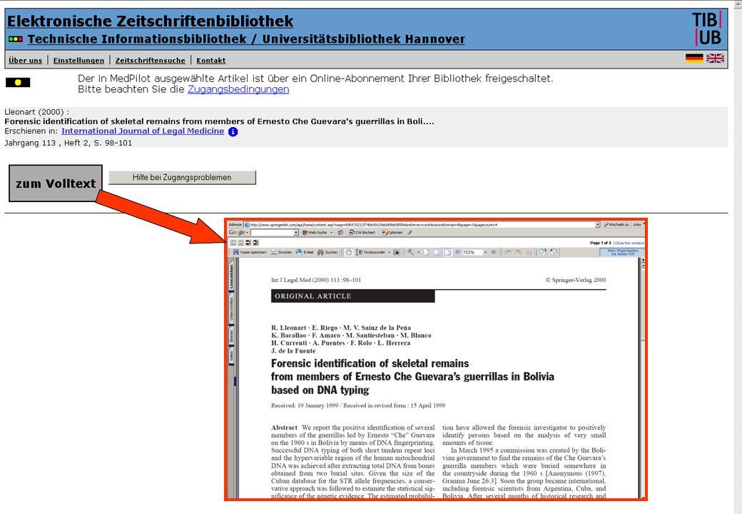 Tamara Pianos Mai 2005 Treffer aus MedPilot über EZB