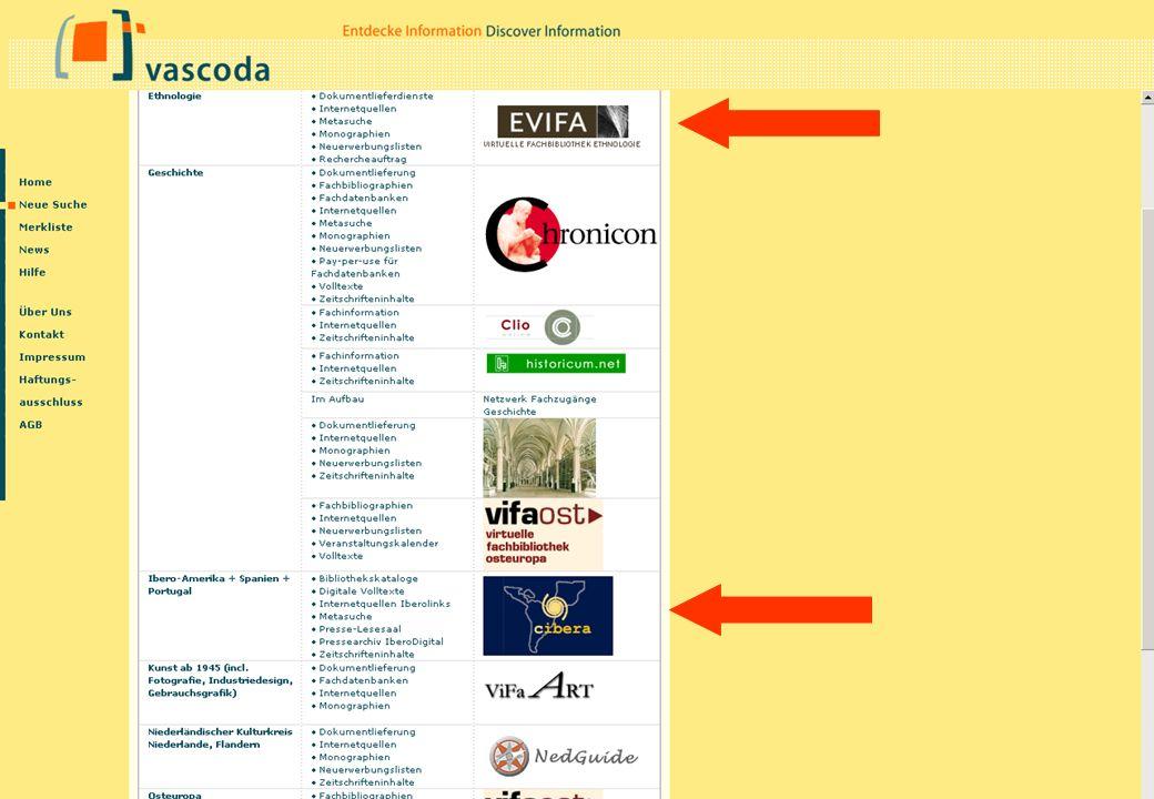 Tamara Pianos Mai 2005 EVIFA Bislang nur Internetquellen in vascoda-Suche integriert.