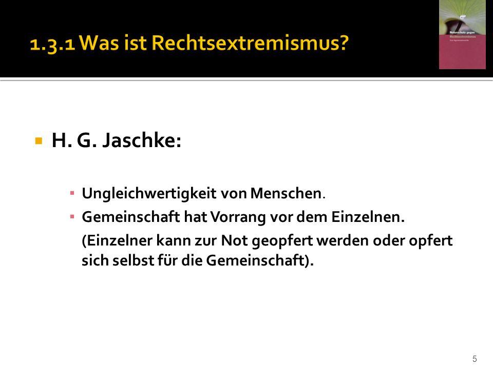 H. G. Jaschke: Ungleichwertigkeit von Menschen. Gemeinschaft hat Vorrang vor dem Einzelnen. (Einzelner kann zur Not geopfert werden oder opfert sich s