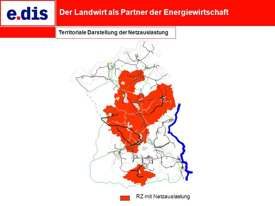 Der Landwirt als Partner der Energiewirtschaft RZ mit Netzauslastung Territoriale Darstellung der Netzauslastung