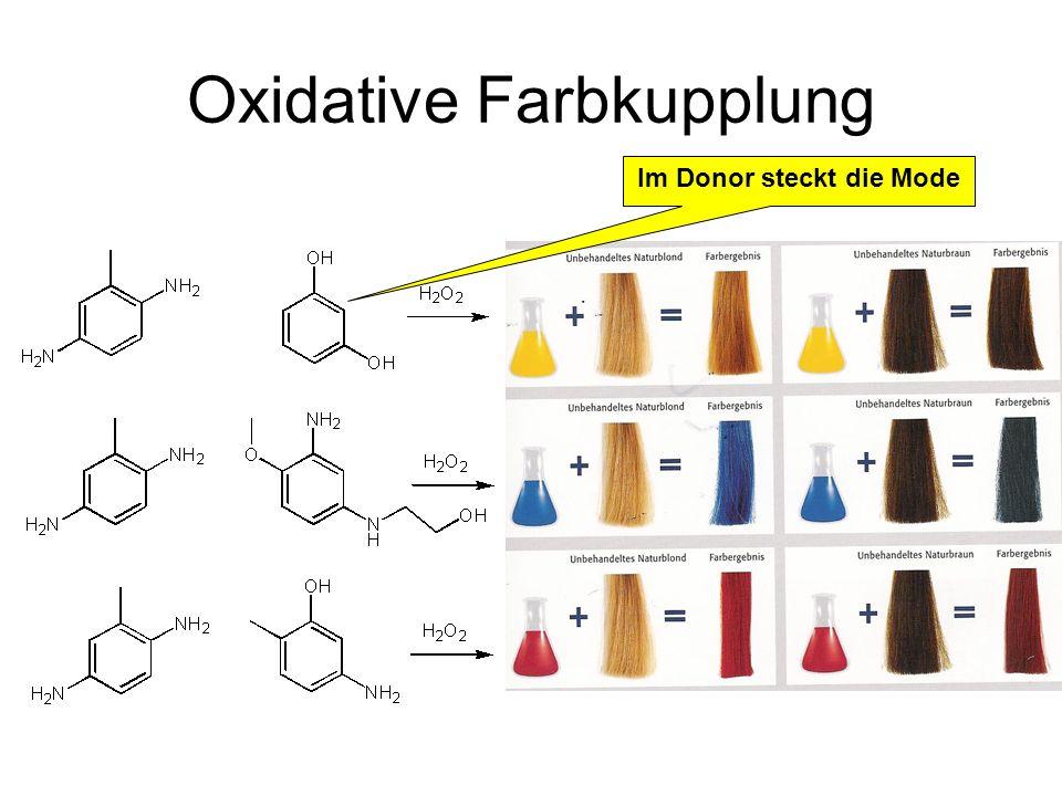 Oxidative Farbkupplung Im Donor steckt die Mode
