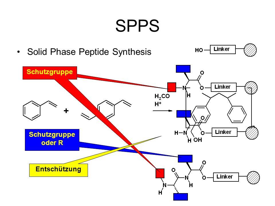 SPPS Solid Phase Peptide Synthesis Schutzgruppe oder R Schutzgruppe Entschützung