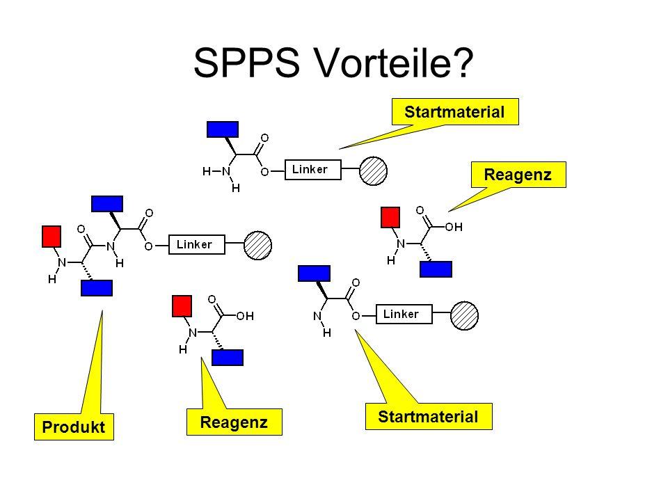 SPPS Vorteile? Startmaterial Reagenz Startmaterial Reagenz Produkt