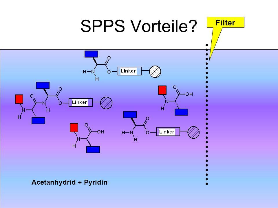Acetanhydrid + Pyridin SPPS Vorteile? Filter