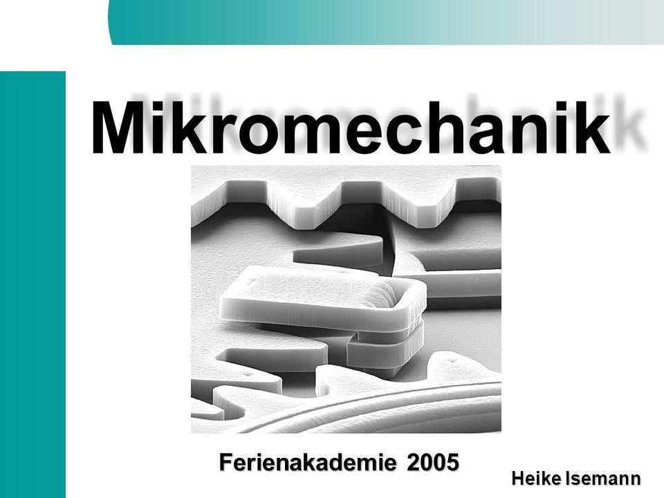 Was ist Mikromechanik.