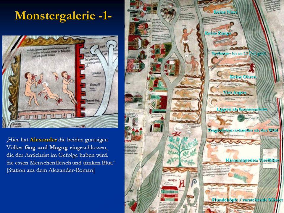 Hier hat Alexander die beiden grausigen Völker Gog und Magog eingeschlossen, Hier hat Alexander die beiden grausigen Völker Gog und Magog eingeschloss