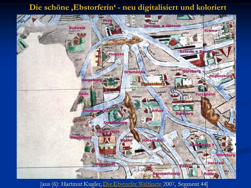 [aus (6): Hartmut Kugler, Die Ebstorfer Weltkarte 2007, Segment 44] Die Ebstorfer WeltkarteDie Ebstorfer Weltkarte Die schöne Ebstorferin - neu digita