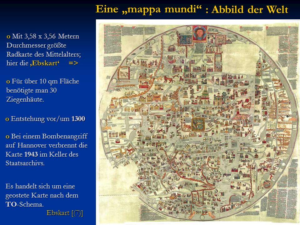 o Bei einem Bombenangriff auf Hannover verbrennt die Karte 1943 im Keller des Staatsarchivs. : Abbild der Welt o Mit 3,58 x 3,56 Metern Durchmesser gr