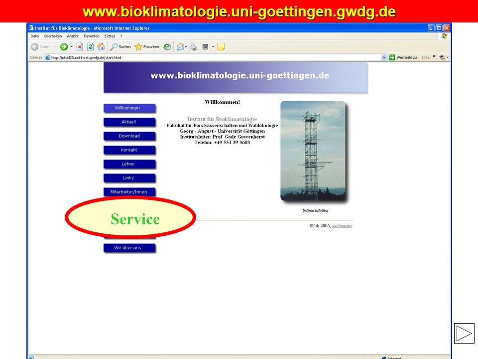 MANUSKRIPT?www.bioklimatologie.uni-goettingen.gwdg.de Service