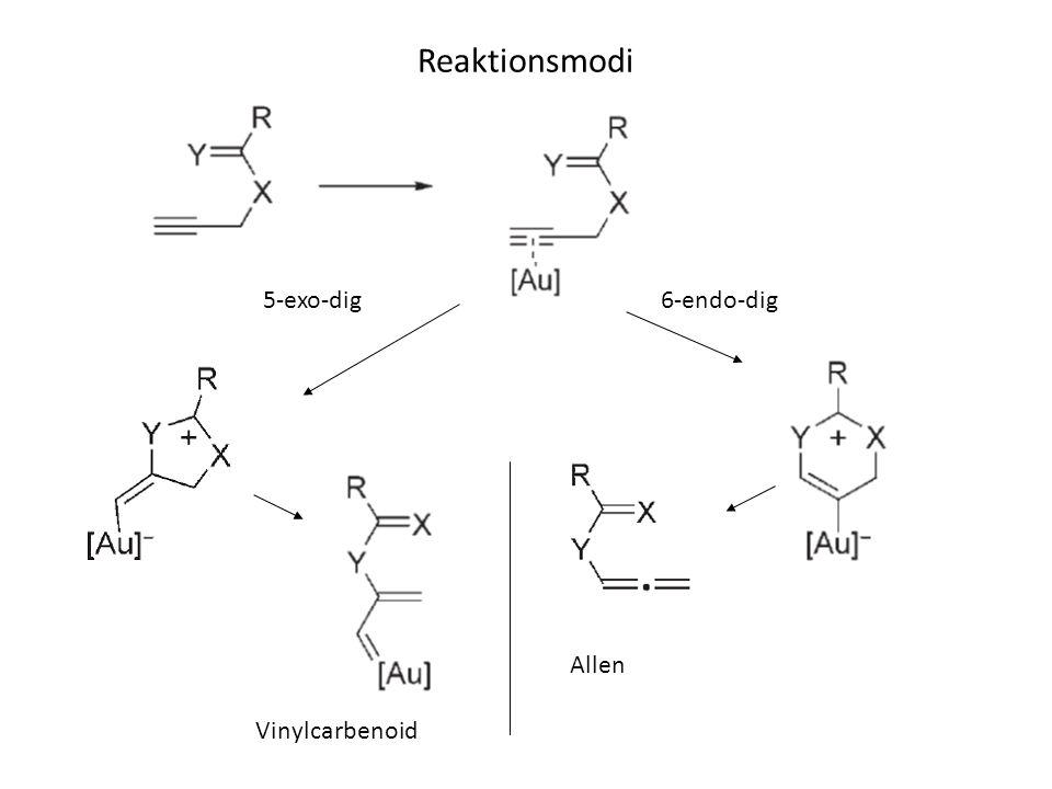 Reaktionsmodi 5-exo-dig6-endo-dig Allen Vinylcarbenoid