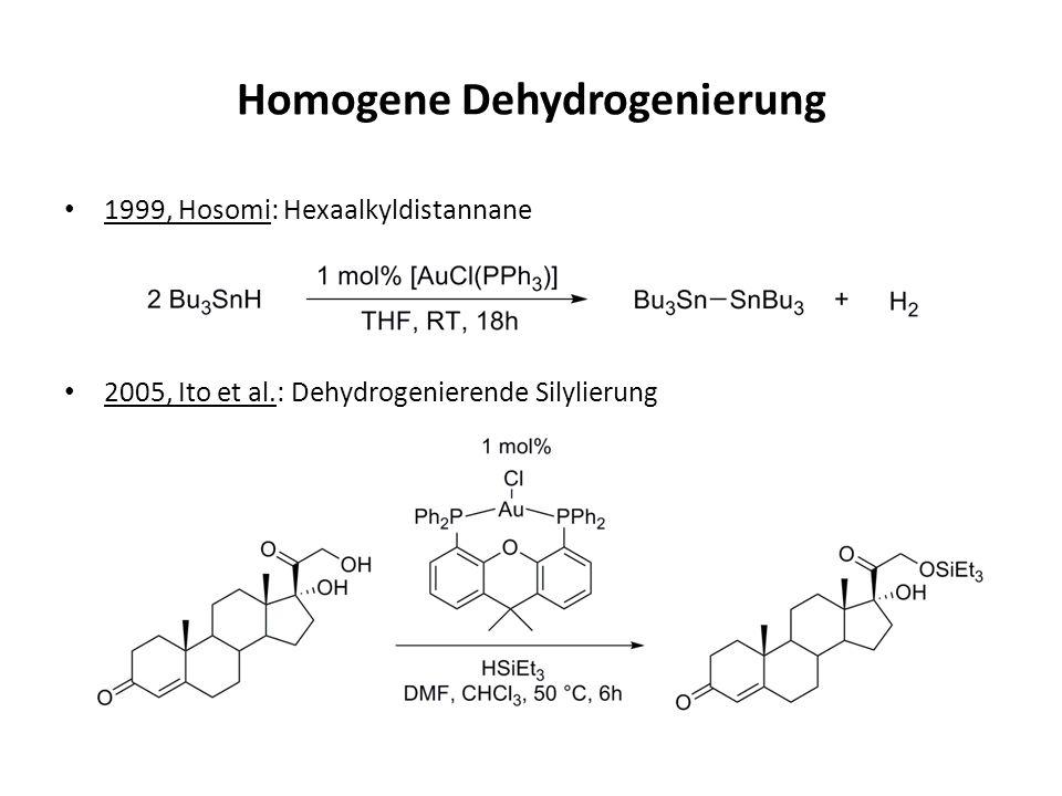 Homogene Dehydrogenierung 1999, Hosomi: Hexaalkyldistannane 2005, Ito et al.: Dehydrogenierende Silylierung