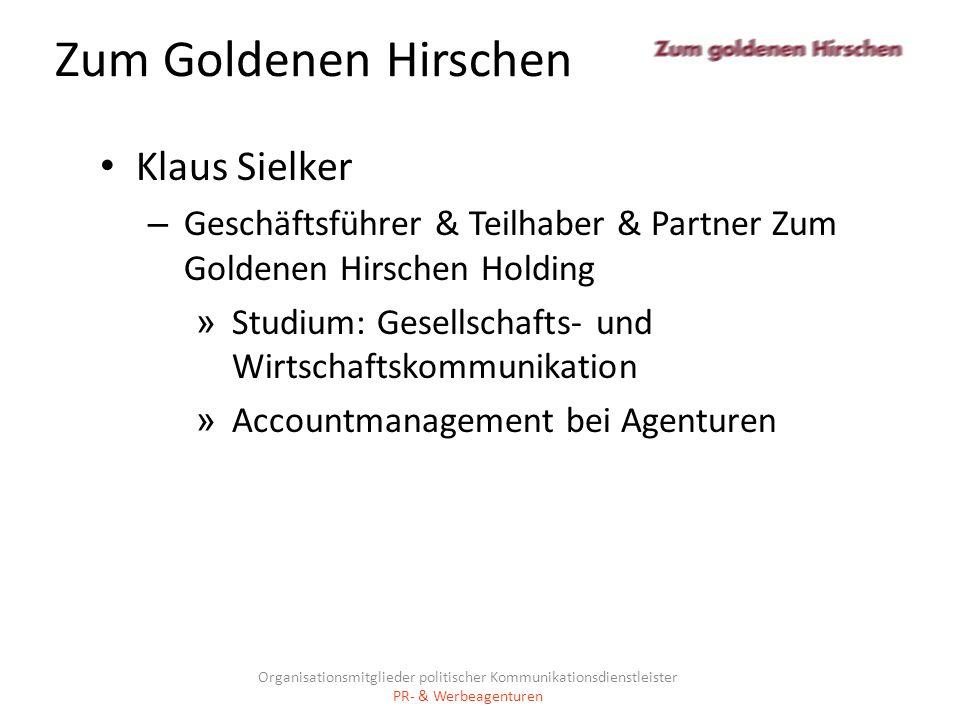 Zum Goldenen Hirschen Klaus Sielker – Geschäftsführer & Teilhaber & Partner Zum Goldenen Hirschen Holding » Studium: Gesellschafts- und Wirtschaftskom