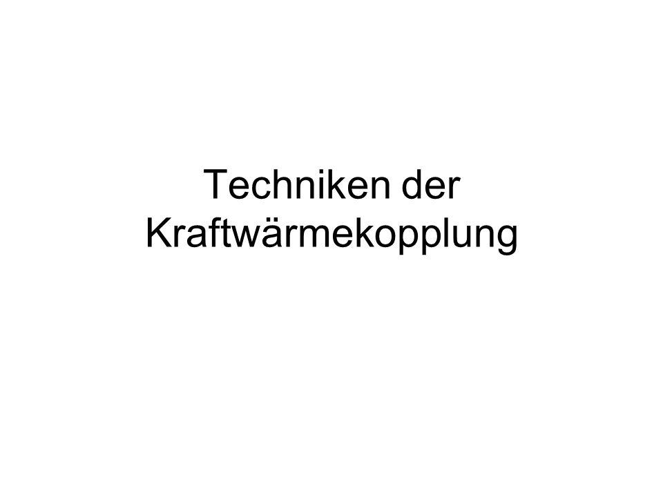 Techniken der Kraftwärmekopplung