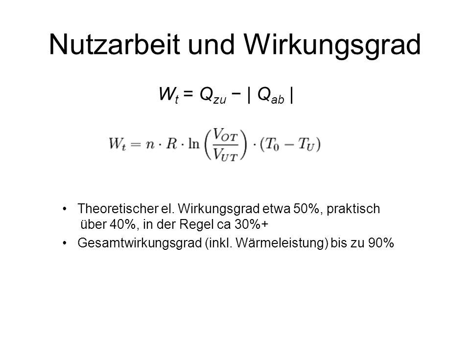 W t = Q zu | Q ab | Theoretischer el.