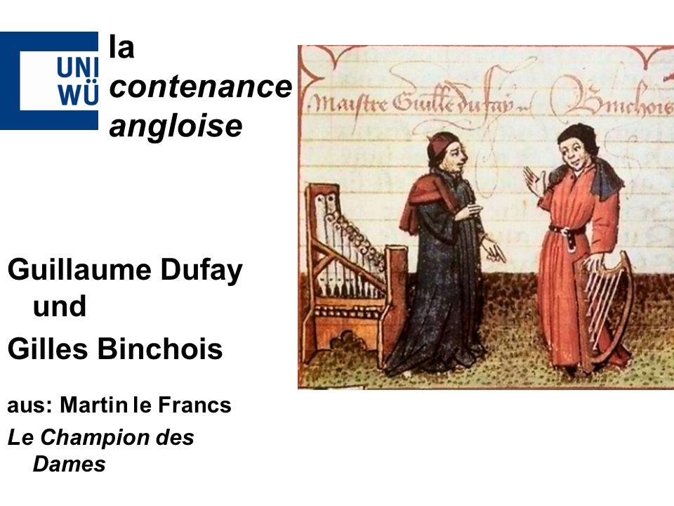 Guillaume Dufay und Gilles Binchois aus: Martin le Francs Le Champion des Dames la contenance angloise
