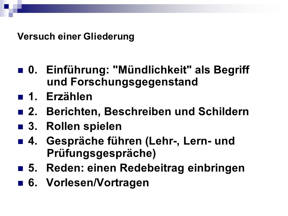 Literaturhinweis zum Vorlesen/Vortragen Ockel, Eberhard: Vorlesen als Aufgabe und Gegenstand des Deutschunterrichts.