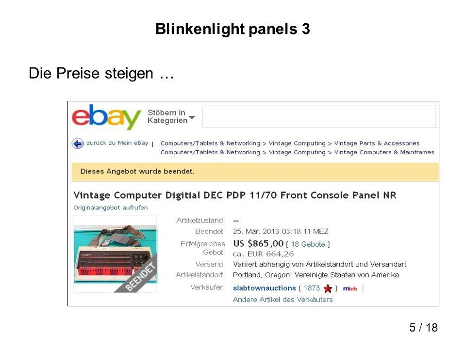 6 / 18 Blinkenlight panels 4 Suchtpotential!