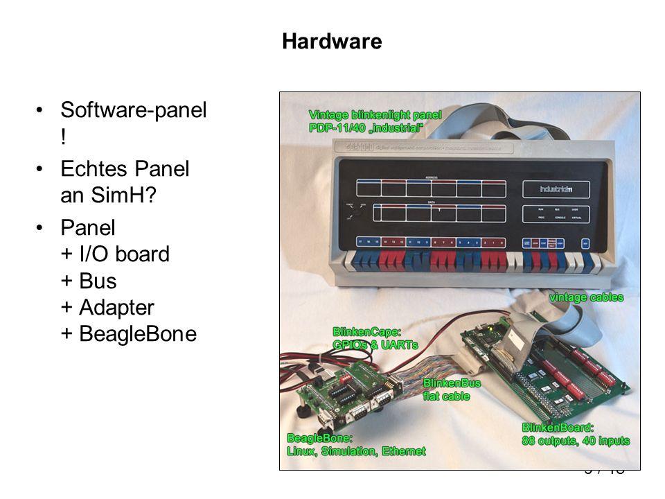10 / 18 BlinkenBoard 1 I/O board = BlinkenBoard 11 x 8bit output drivers, 5 x 8bit input register bis 80V PC-Netzteil 32 BlinkenBoards parallel: BlinkenBus Addressraum 512 register, 2816 Lampen, 1200 Schalter
