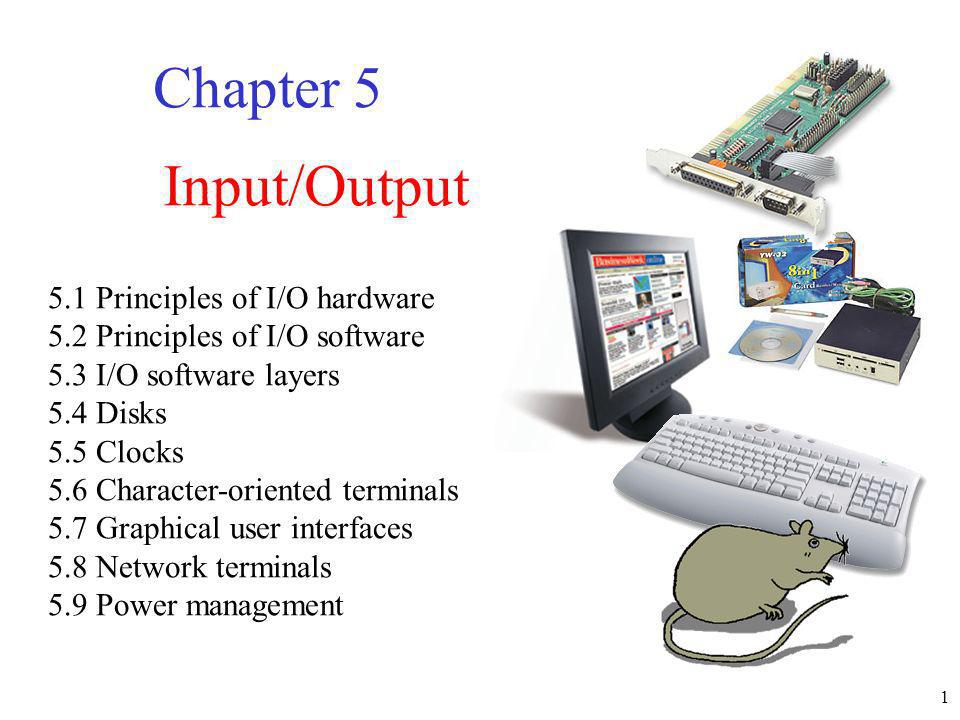 2 Principles of I/O Hardware Geschwindigkeit Some typical device, network, and data base data rates