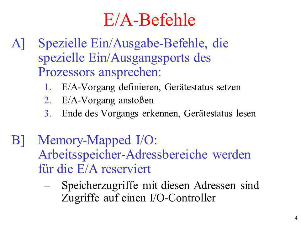 5 Memory-Mapped I/O (1) a)Separate I/O and memory space b)Memory-mapped I/O c)Hybrid