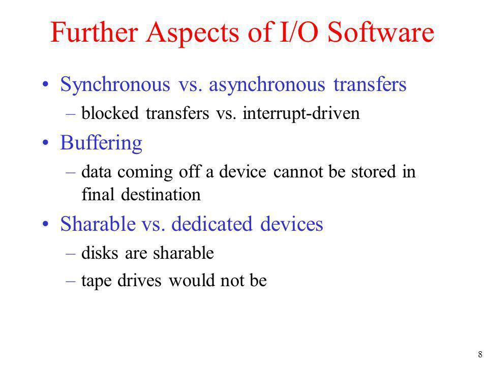 39 Disk Arm Scheduling Algorithms (2) Shortest Seek First (SSF) disk scheduling algorithm Initial position Pending requests
