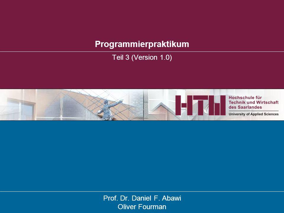 Referenzen, Minimalbeispiel einer Klasse des Datenmodells Programmierpraktikum FB WI – Prof.