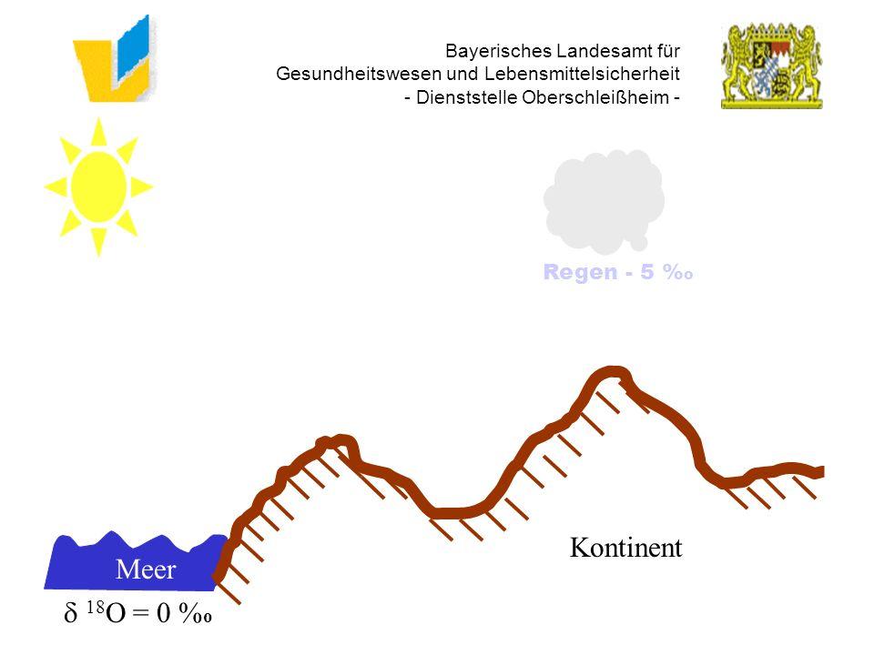 Bayerisches Landesamt für Gesundheitswesen und Lebensmittelsicherheit - Dienststelle Oberschleißheim - Meer 18 O = 0 % o Kontinent