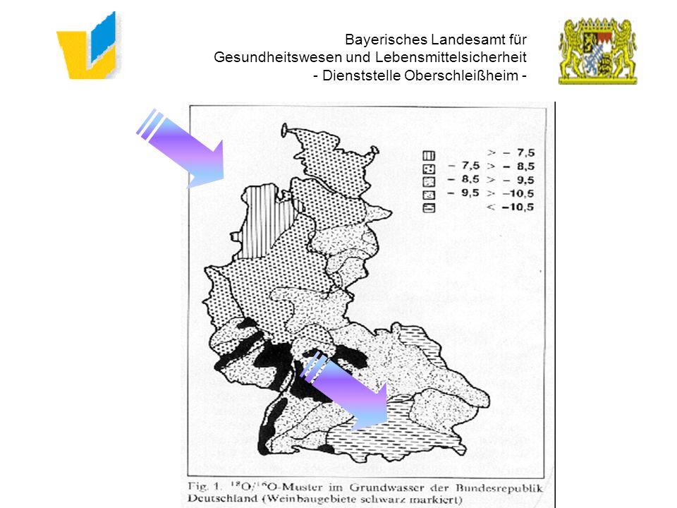 Bayerisches Landesamt für Gesundheitswesen und Lebensmittelsicherheit - Dienststelle Oberschleißheim - Regen - 5 % o Dunst - 17 % o Meer 18 O = 0 % o