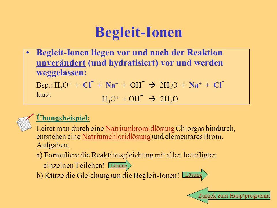 Die römische Ziffer gibt die Oxidationszahl des davorstehenden Ions an. Bsp.: Bei Eisen-(III)-chlorid liegen Fe 3+ -Ionen vor. ( Daraus lässt sich wie