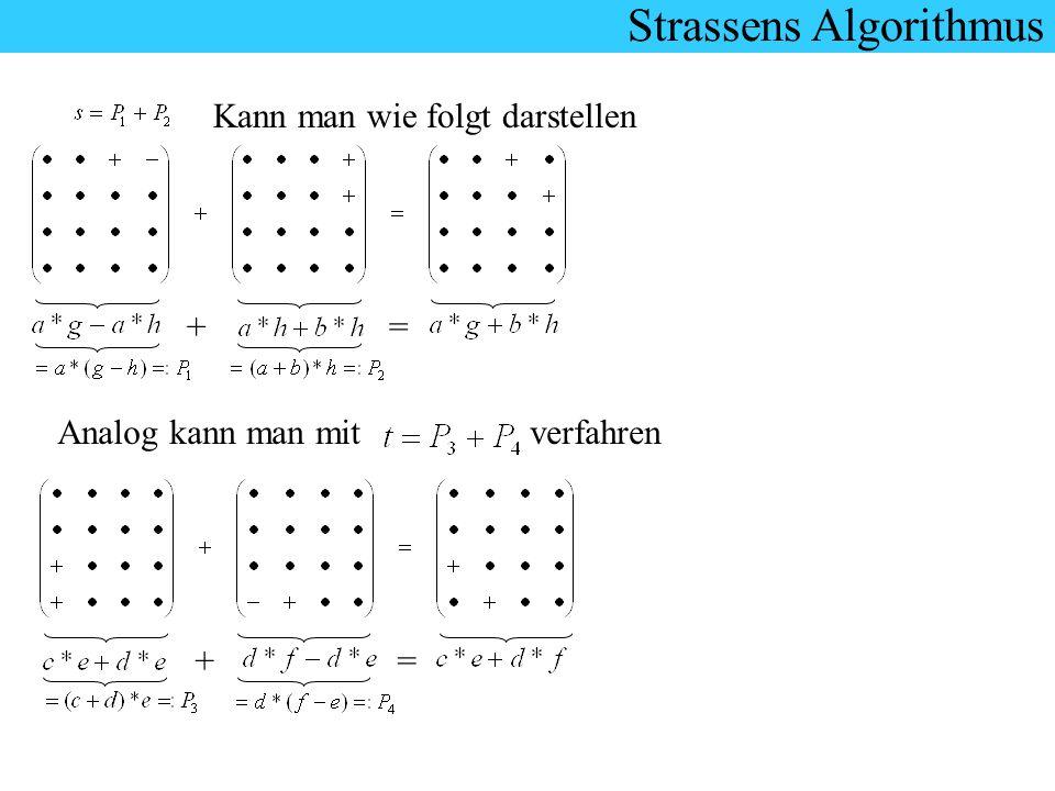 Kann man wie folgt darstellen =+ Analog kann man mit verfahren +=