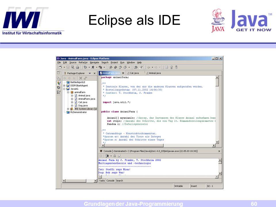 Grundlagen der Java-Programmierung60 Eclipse als IDE