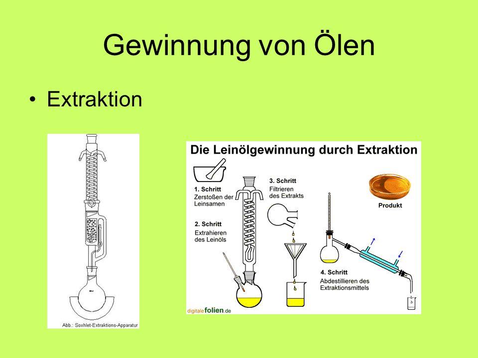 Gewinnung von Ölen Extraktion