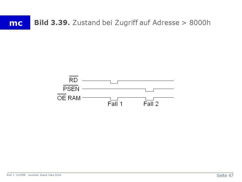 Seite 47 Prof. J. WALTER Kurstitel Stand: März 2004 mc Bild 3.39. Zustand bei Zugriff auf Adresse > 8000h