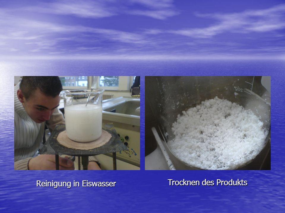Trocknen des Produkts Reinigung in Eiswasser