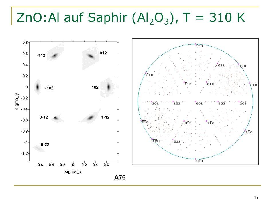19 ZnO:Al auf Saphir (Al 2 O 3 ), T = 310 K