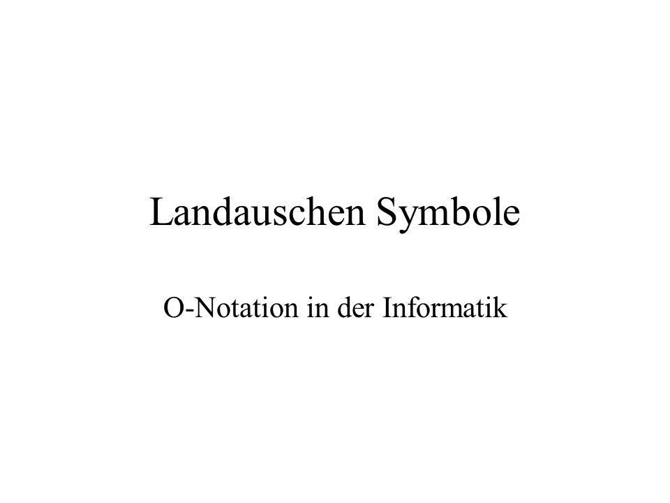 Landauschen Symbole O-Notation in der Informatik