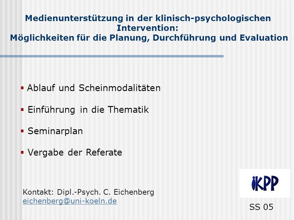 Einführung Klinisch-psychologische Intervention Unter klin.-psychol.