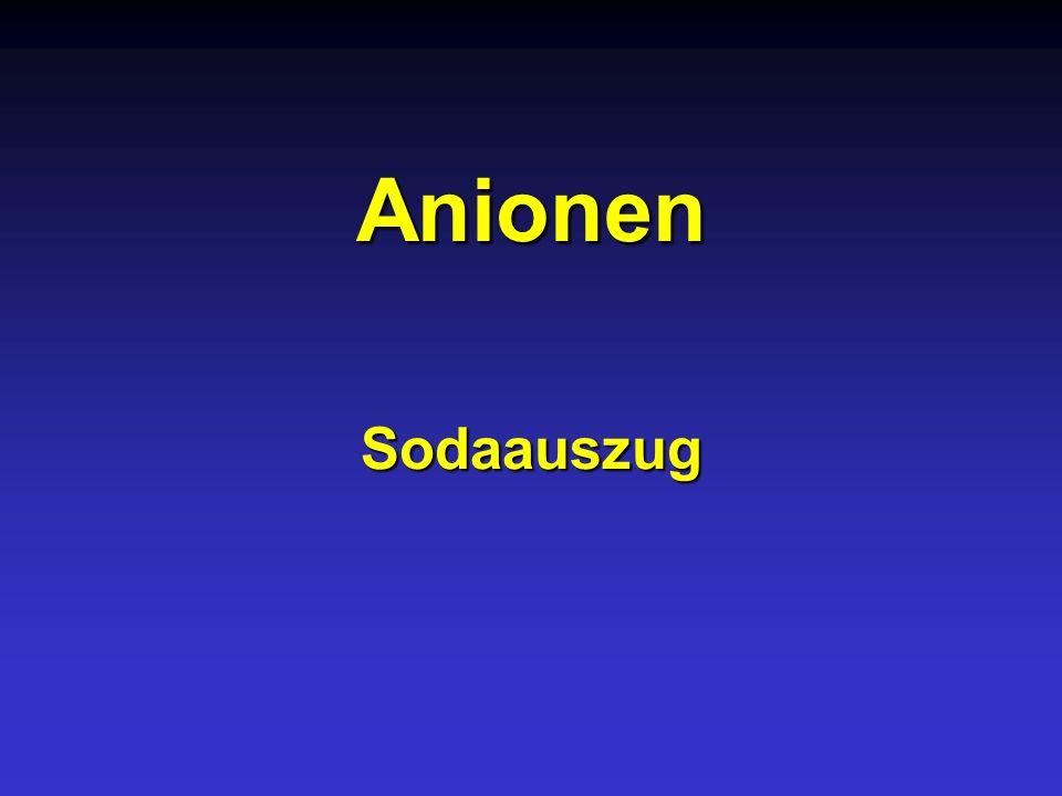 Anionen Sodaauszug