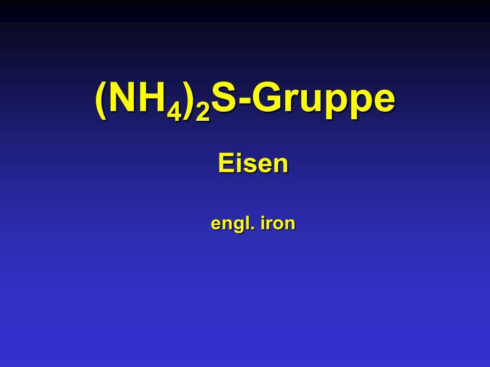 (NH 4 ) 2 S-Gruppe Eisen engl. iron