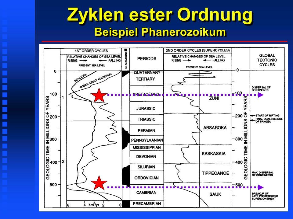 Zyklen ester Ordnung Beispiel Phanerozoikum